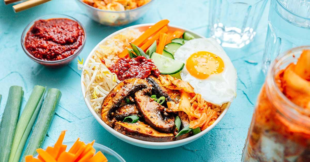 Vegetarian Kimchi Bibimbap Recipe Live Eat Learn