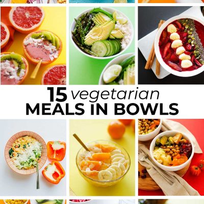 Collage of recipes in bowls
