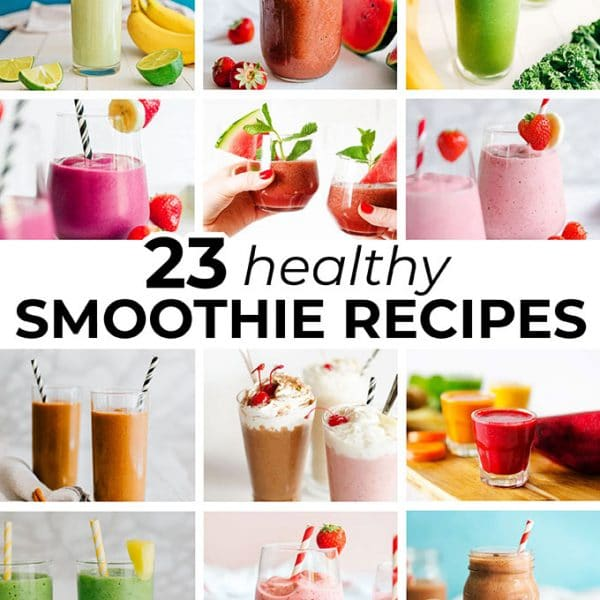 Collage of healthy smoothie recipes
