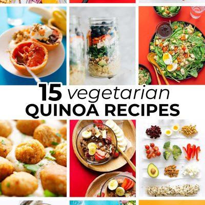 Collage of vegetarian quinoa recipes