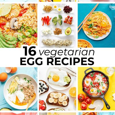 Collage of vegetarian egg recipes