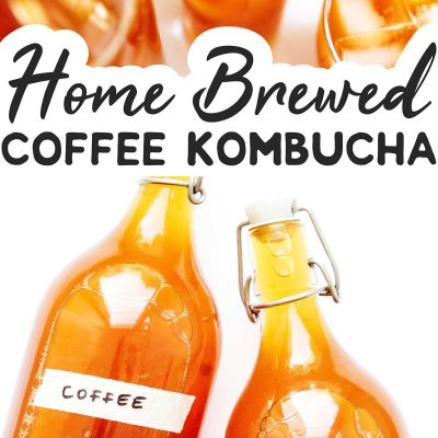 Coffee kombucha in fermentation bottles