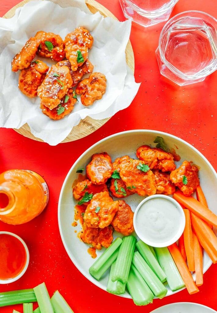 Vegan Hot Wings / Seitan Wings (2 Flavors!) | Live Eat Learn