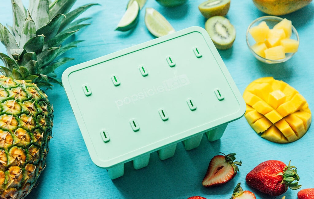 Popsicle Lab popsicle mold with fruit